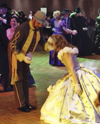 Bow and Curstsey at a Victorian Ball