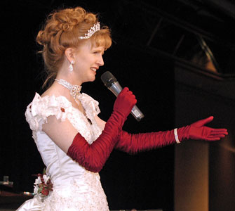 Sharon Guli teaching at a Victorian Ball