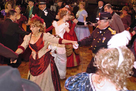 Grand March Spiral at a Victorian Ball