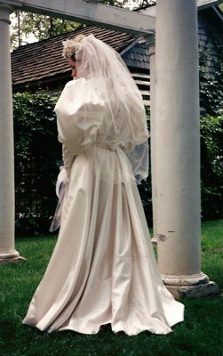 Victorian Bride in the Park