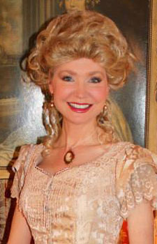 Victorian wig on Lady Dorease