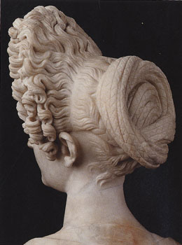 Pompeii Exnibit Flavian Wig style sculpture influence