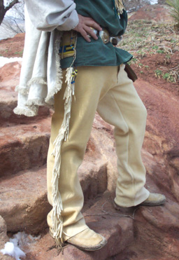 Buckskin mountain man pants