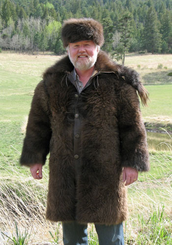 Buffalo Coat front view on Dr. Dave