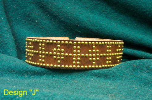 "Tack belt with studs, style ""J"""