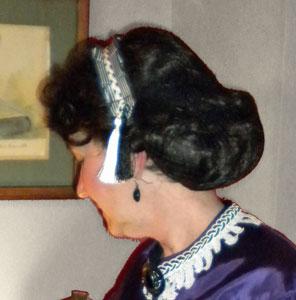 Civil War Victorian wig in hair net