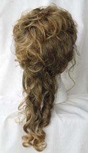 Narrow spiral cascade Victorian wig