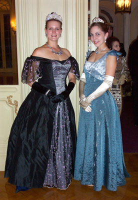 Astor House ladies for a Victorian Sapphire Ball