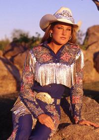Rhinestone fringe on vintage outfit