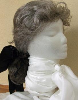 Colonial men's queue/cue wig