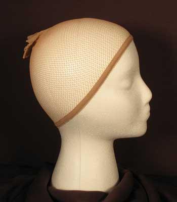 Fishnet wig cap.