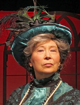 Lady Bracknell from The Importance of Being Earnest in Edwardian Wig