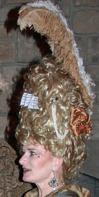Marie Antoinette pompadour wig