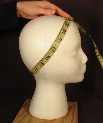 How to measure your head for a wig