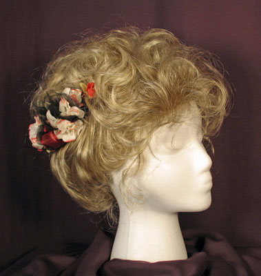 Finished Gibson style Victorian wig.